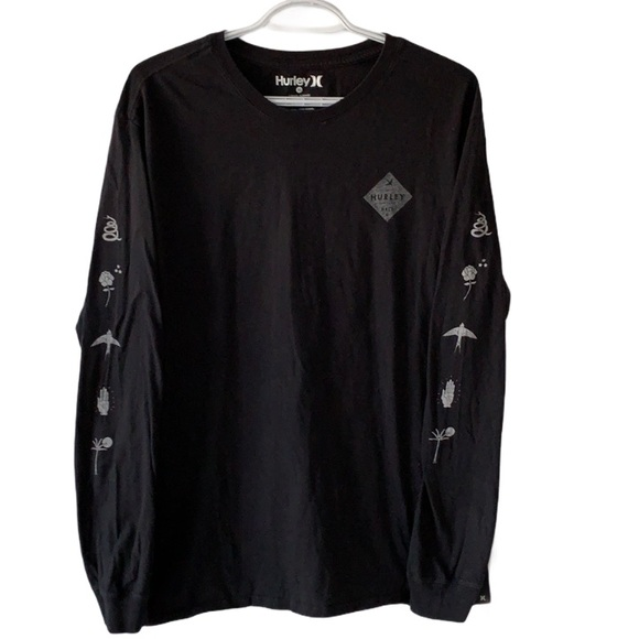 Hurley Black Long Sleeve Graphic T-Shirt